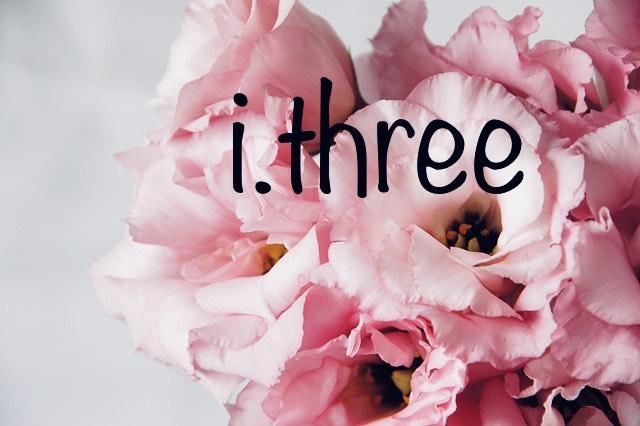 ピンクのトルコキキョウとアイスリーの文字